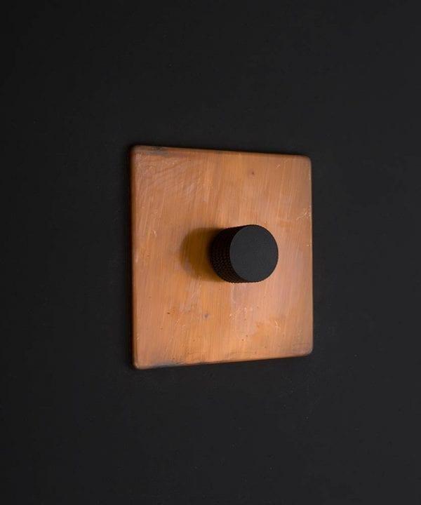 copper & black single dimmer