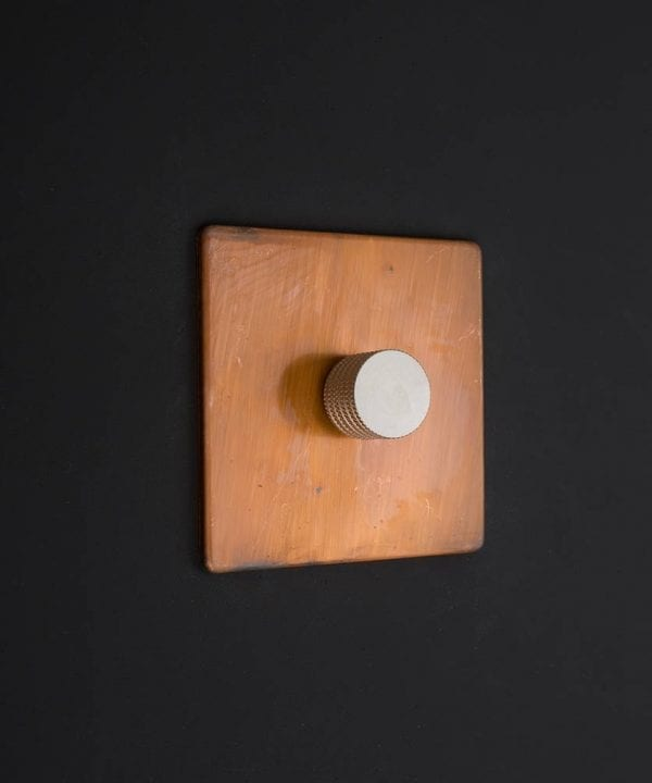 copper & silver single dimmer
