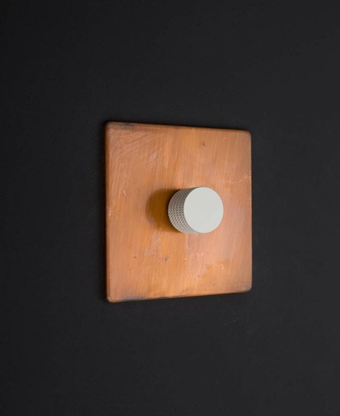 copper & white single dimmer