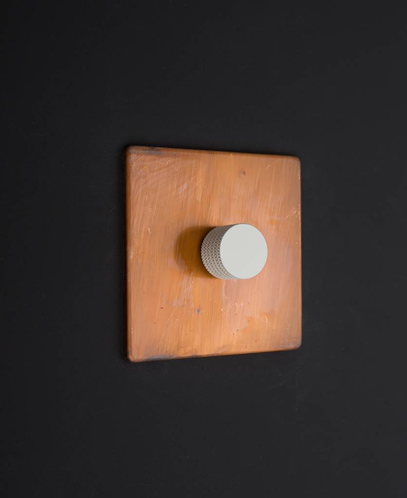 copper & white single dimmer