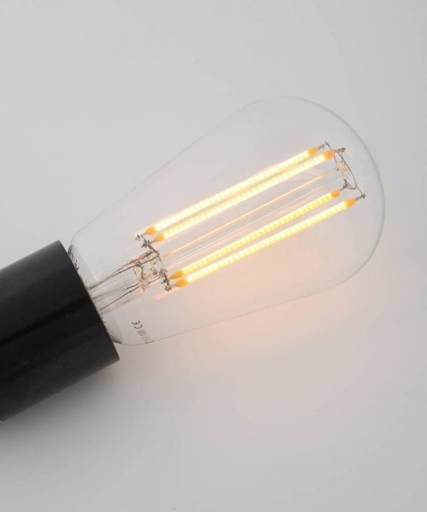 pear squirrel cage filament vintage glow LED filament bulb