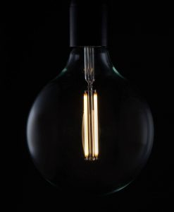LED filament bulb extra large globe warm glow