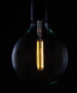 LED filament bulb extra large globe vintage glow