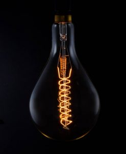 giant drop rustic bulb with spiral filament