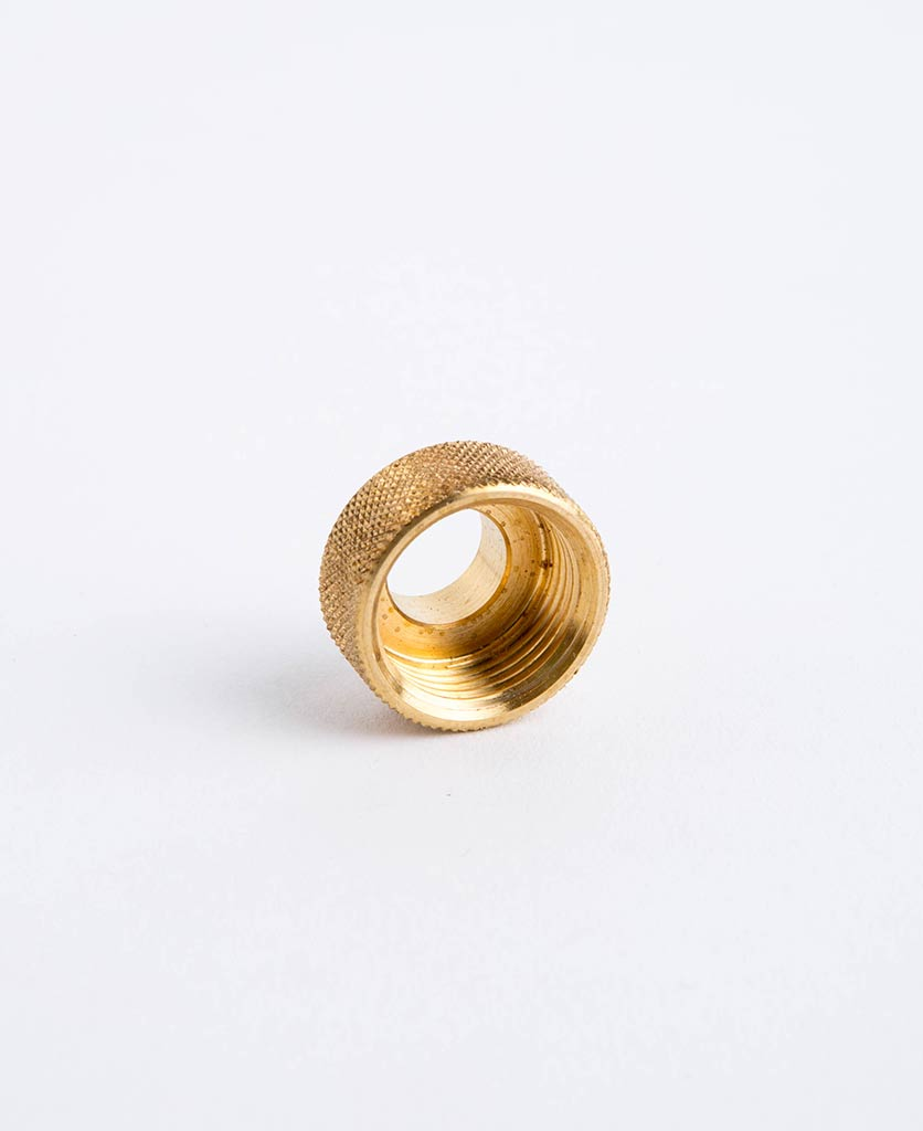 conduit adapter brass against white background