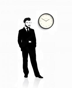 Mr_Turner_black_wall_clock