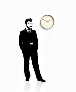 Mr_clarke_dash_light_wall_clock