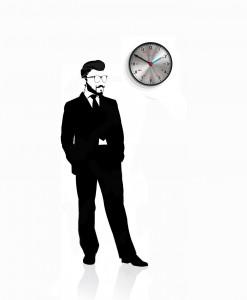 Scientist_black_wall_clock