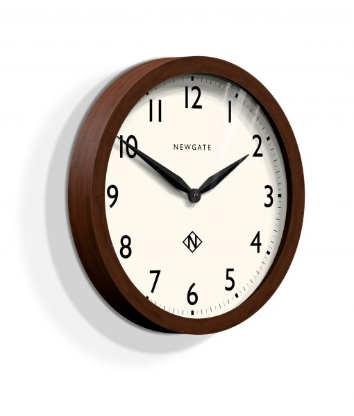 SOLID WOOD DARK OAK WIMBLEDON WALL CLOCK | Modern Classic