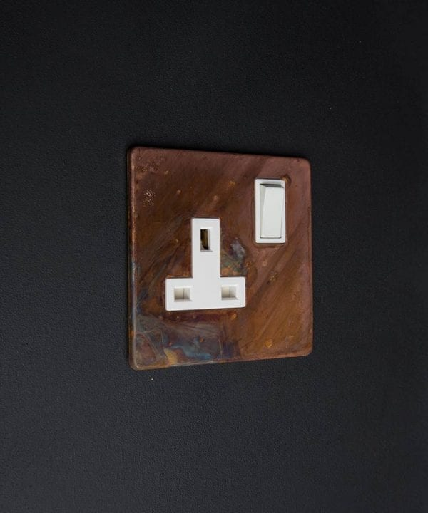 copper & white single socket