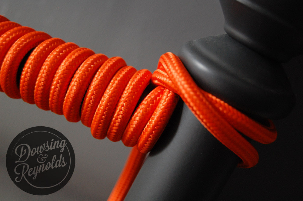 orange fabic cable for lighting