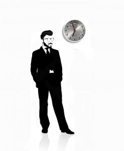 scientist_white_wall_clock