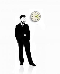 time_pill_wall_clock_black