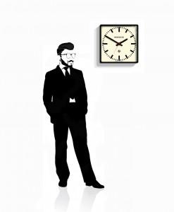 underpass_wall_clock