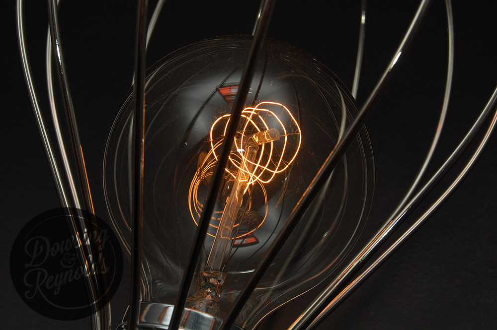 vintage light bulb with quad loop filament