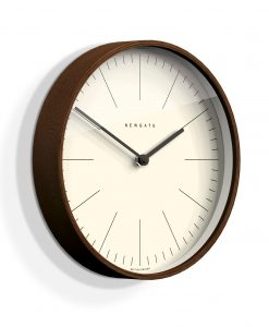 NEWGATE MR CLARKE Dark Wood Minimalist Wall Clock