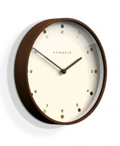 NEWGATE DARK WOOD MR CLARKE MINIMALIST WALL CLOCK | Dot Dial