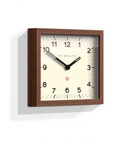 Mr Davies wall clock dark wood