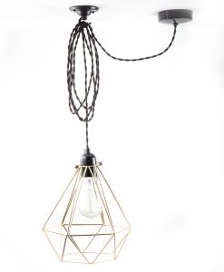 Diamond_cage_ceiling _light_gold_twisted_black-2