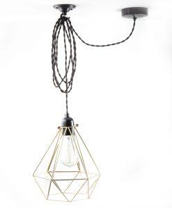 diamond cage pendant light fool's gold