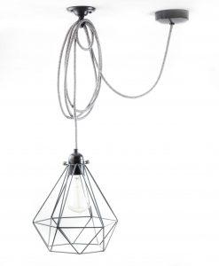 diamond cage pendant light grey