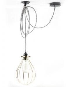 Balloon cage pendant light fool's gold