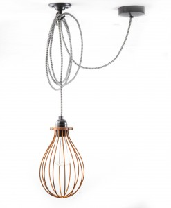Balloon cage pendant light 28 day aged steel