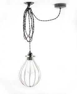 balloon cage pendant light forgotten silver