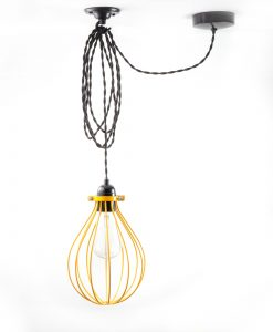 balloon_cage_ceiling _light_yellow_black_twisted-2