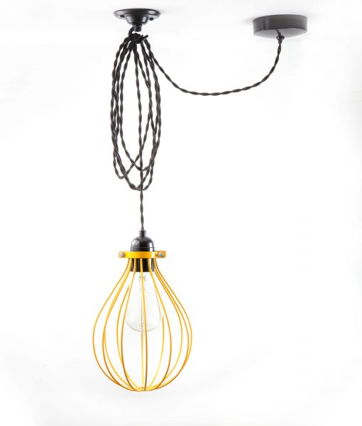 Ceiling Lights Yellow : Balloon cage pendant light yellow dowsing reynolds
