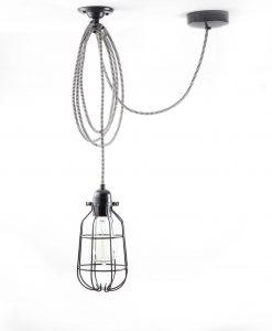 drop cage pendant light oh so black