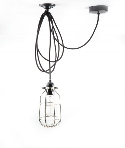 Drop cage pendant light forgotten silver