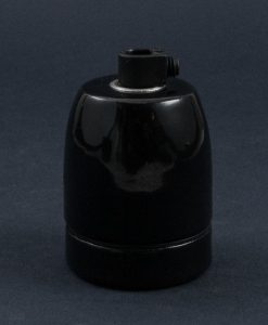E27 Porcelain Bulb Holder Black Vintage Style