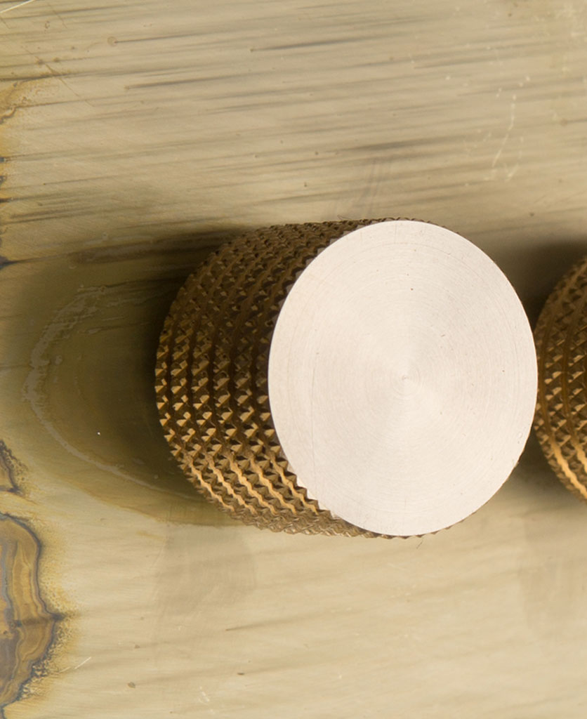 smoked gold double dimmer close up with gold knob