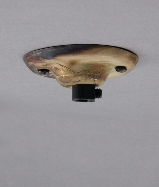 smoked gold single entry ceiling rose