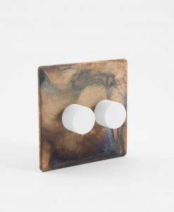 designer dimmer switch double smoked gold & white