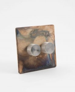 designer dimmer switch double smoked gold & silver