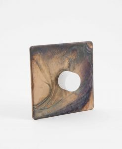 designer dimmer switch single smoked gold & white