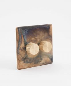 Designer Dimmer Switch Double Smoked Gold Gold