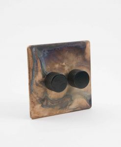 Designer Dimmer Switch Double Smoked Gold & Black