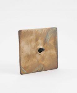Toggle light switch 1 toggle smoked gold & black