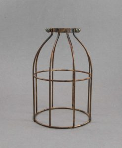 Cage Light Shade Domed Smoked Gold - Industrial Style Light