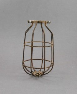 Cage Light Shade Drop Smoked Gold Industrial Style Light