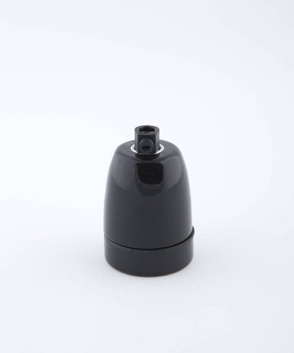 black porcelain E27 bulb holder