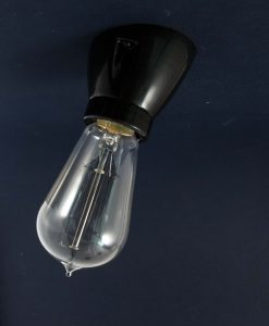 Porcelain Wall Light Black Angled Bulb Holder