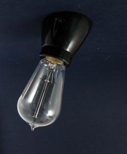 Porcelain Wall Light Black Angled Bulb Holder