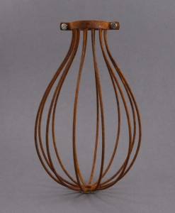 Cage Light Shade Balloon Rusted Steel