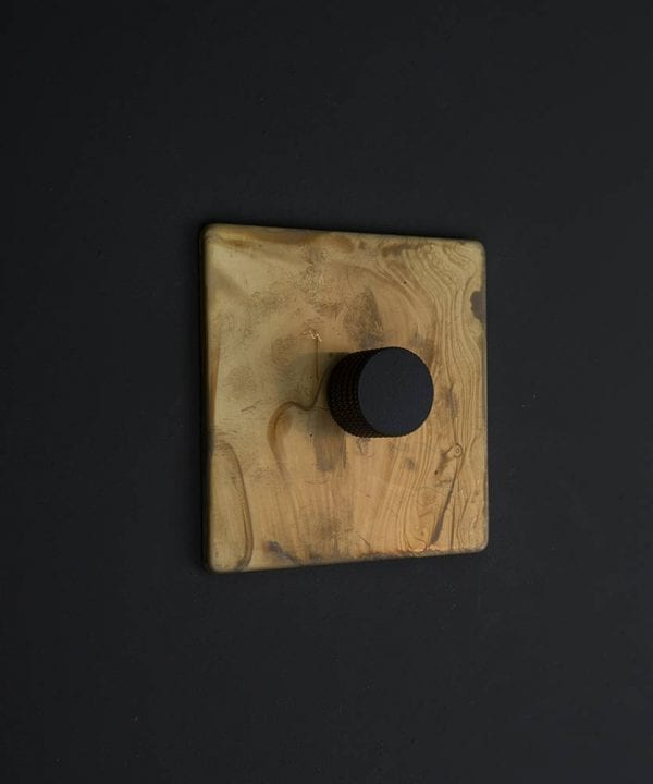 smoked gold & black single dimmer