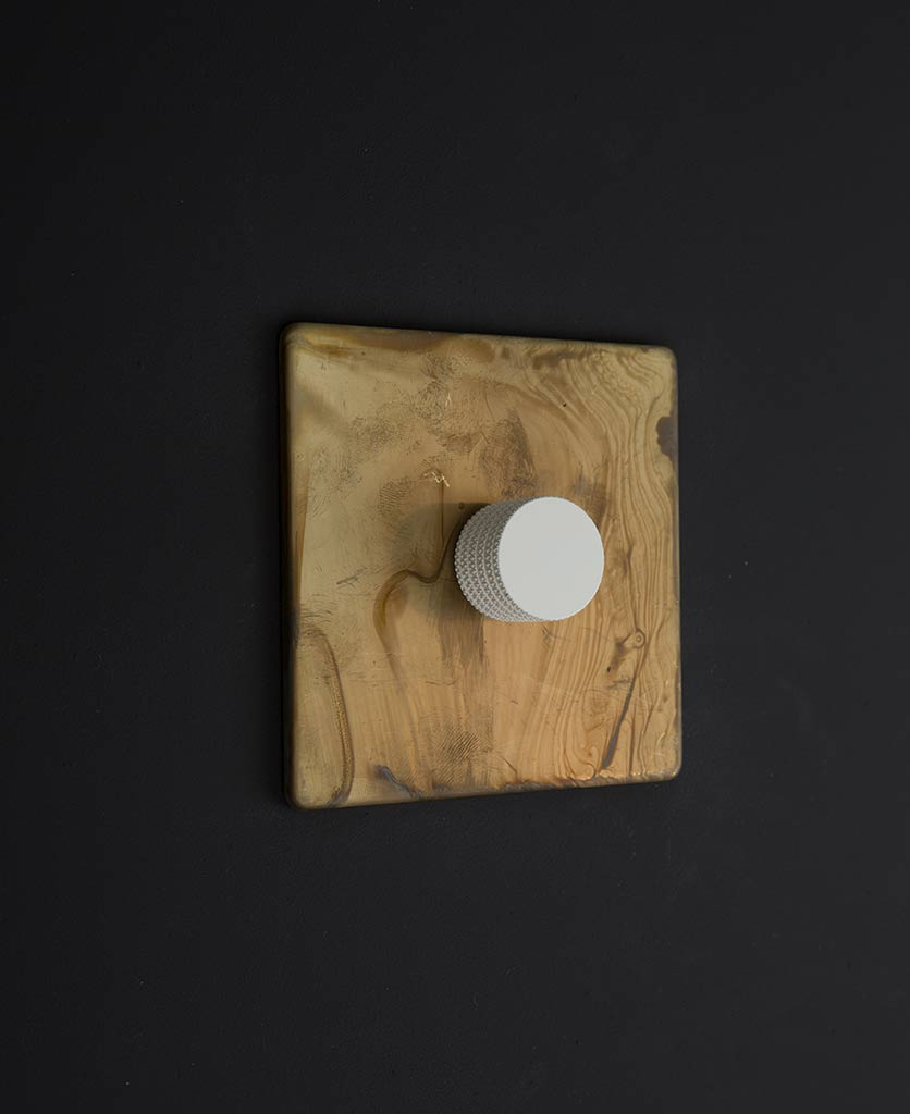 smoked gold & white single dimmer