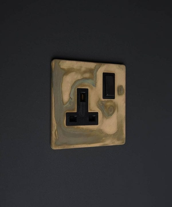 smoked gold & black single socket